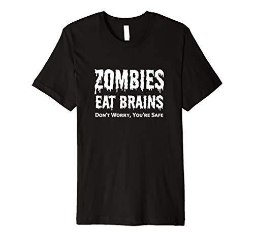Zombies Eat Brains T-Shirt Funny Halloween Tee TShirt for $<!--$21.98-->