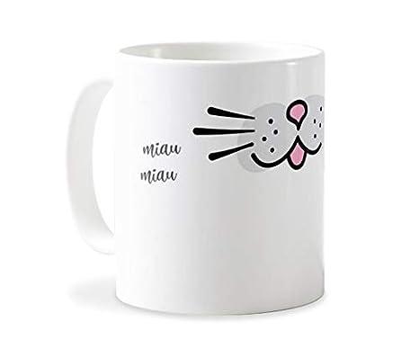 Personaliza tu carcasa Tazas de café o Desayuno con diseños de Latorita | Tazas de cerámica Blanca (AAA) | Taza con Frase - Miau Miau