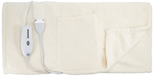 Price comparison product image Serta Cuddler Electric Heated Wrap with Pockets, Cloud