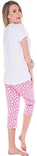 Italian Fashion IF Pijama para mujer Cupid 0225 Blanco/Rosa