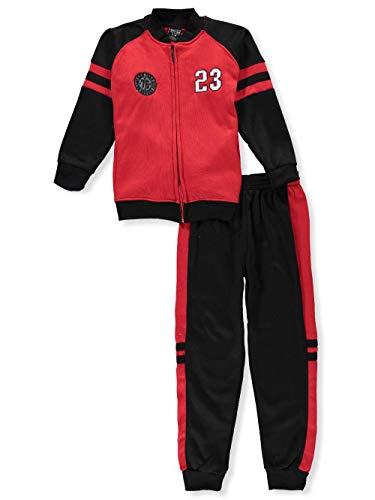 Quad Seven Big Boys' 2-Piece Sweatsuit Pants Set - red/Multi, 12-14