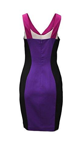 Multi JAY Dress 140871F GODFREY Block Purple Womens Racer 6 Color Sheath Sz wwrvqUg