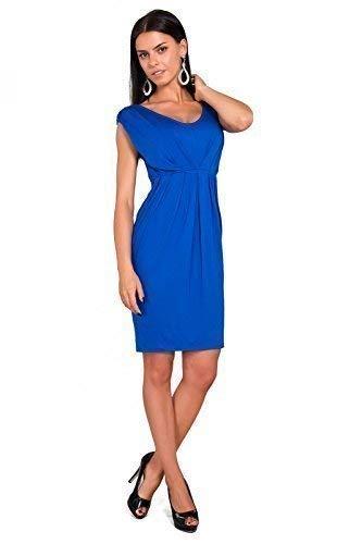 V Taille UK 8 8437 sans Col Roi avec Tulipe Dcontract Bleu FUTURO Robe Manche FASHION Femmes 18 Style c6PwqRZ8xf