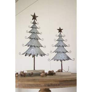 Amazon.com: Galvanized Metal Christmas Trees, Set 2 ...