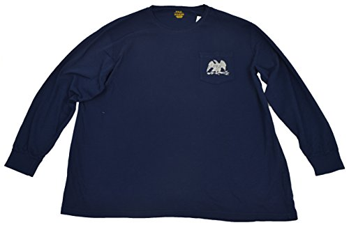 Polo Ralph Lauren Big and Tall Mens Navy Blue Polo Eagle Long Sleeve T-Shirt NWT 2XB Eagle Long Sleeve Polo