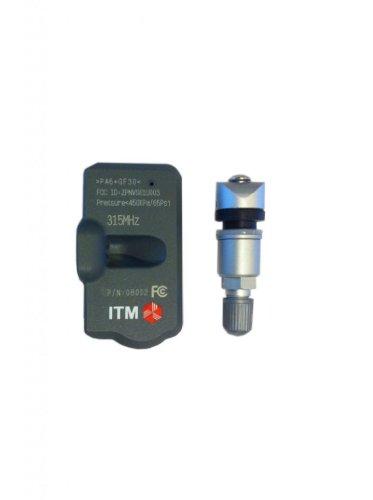 Matte Black ITM Set of 4 08017DXS TPMS 433mhz Tire Pressure Sensors w//Gloss Black or Matte Black Aluminum Valve Stems for Tesla Model S 3 X Aftermarket Replacement