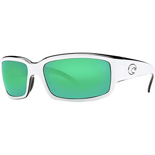 Costa Del Mar Caballito Sunglass, White/Black/Green Mirror 580Plastic
