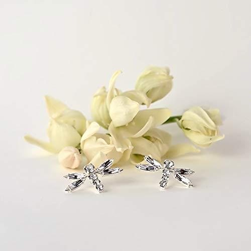 Dragonfly earrings, Swarovski crystal earrings (Swarovski Crystal Custom Bridal Earrings)