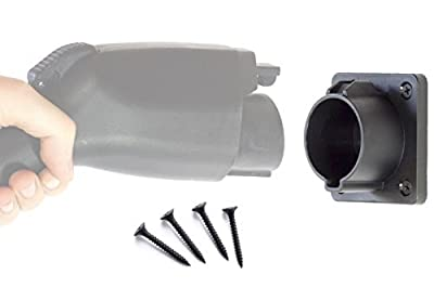 EV Charger Plug Nozzle Holster Dock for SAE J1772 Electric Vehicle with Screws Included for EVSE Wall Mount Holder