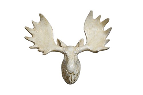 Yun lin crafts yl082723 yl crafts fake moose head wall mount resin animal wall sculpture wang - Fake moose head mount ...