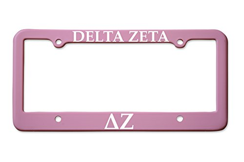 Officially Licensed Delta Zeta License Plate Frame - Matte - Plate License Frame Delta