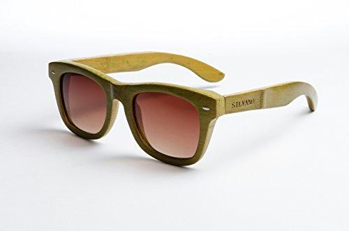 Silvano Sunglasses Bamboo Wood/Hunter - Silvano Sunglasses Wood