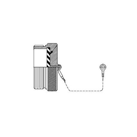 Glenair Receptacle Protective Cap Aluminium Alloy - MS27502B23C
