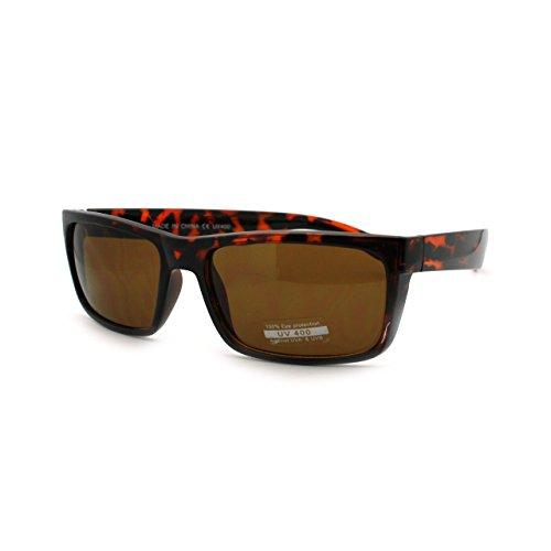 Mens Classic Rectangular Secret Agent Futuristic Rectangular Sport Sunglasses - Sunglasses Secret Agent