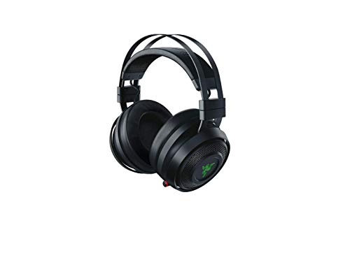 - Razer Nari Wireless: THX Spatial Audio - Cooling Gel-Infused Cushions - 2.4GHz Wireless Audio - Gaming Headset Works for PC, PS4, Switch & Mobile Devices (Renewed)