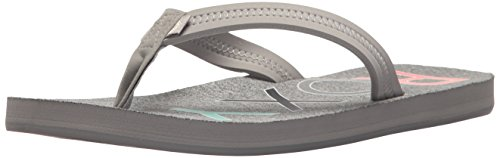 Roxy Women's Palm Beach Flip-Flop, Grey, 10 Regular - Palm Beach Fashion