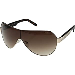 GUESS Unisex GF5026 Shiny Gold/Brown/Brown Gradient Lens One Size