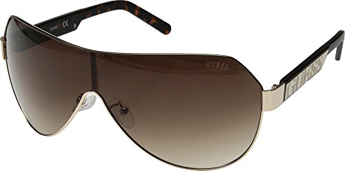 GUESS Unisex GF5026 Shiny Gold/Brown/Brown Gradient Lens One - Eyewear Guess Women For