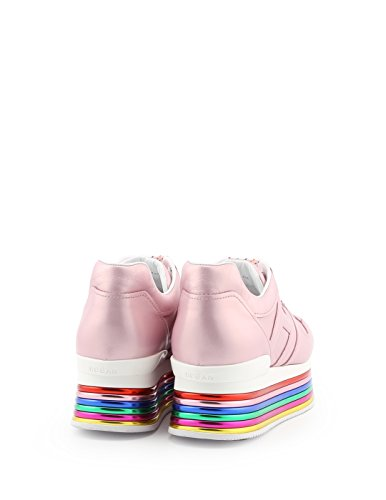 Hogan Damen Gyw3520t548sv0m417 Rosa Leder Chaussures De Sport