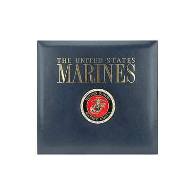 K/&Company Leather Marine 12-by-12-Inch Scrapbook