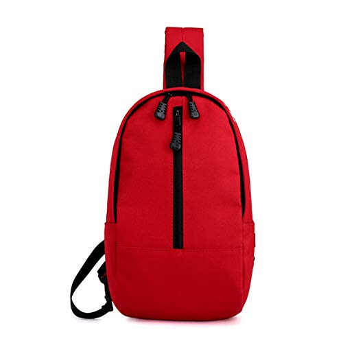 Bag Cross and body Lightweight Sport Shoulder Canvas Men Chest Red Pouch for Daypacks Women Backpacks Defeng Multipurpose 8qEw4Rq
