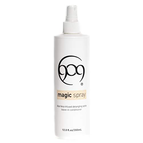909 Detangler Magic Spray, Aloe Vera Infused Leave-In Conditioner for 100% Remy Human Hair Extensions and Wigs (12 oz) from The Hair Shop
