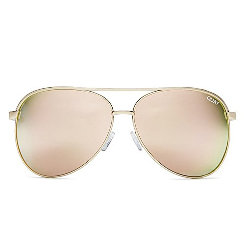 Quay Australia VIVIENNE Women's Sunglasses Oversized Aviators Metal - - Gold Quay Sunglasses Australia Rose