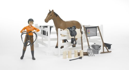 Bruder Bworld Riding Set with Horse and Woman