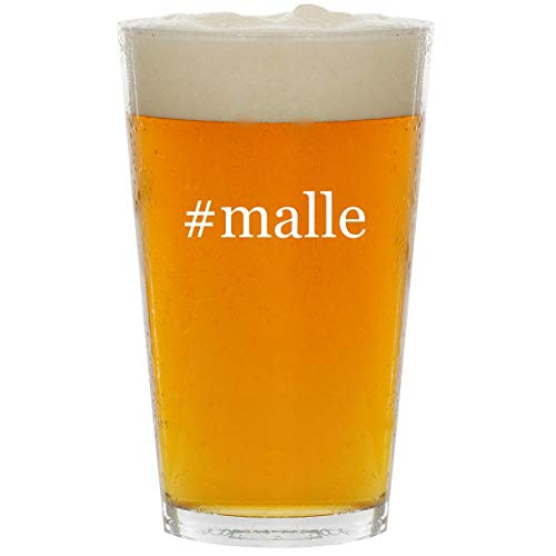 #malle - Glass Hashtag 16oz Beer Pint ()