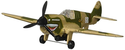 Hot Wings P-40 War Hawk with Connectible Runway Die Cast Model Airplane, (Hot Wings Diecast Toy Airplane)