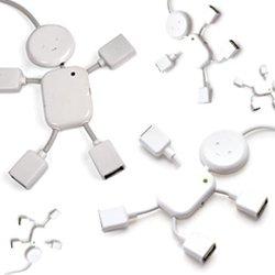4 Port Usb 2 0 Hub  White Mini Man