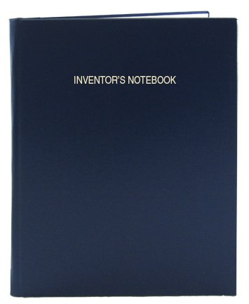 BookFactory Blue Inventor's Notebook - 96 Pages (.25'' Grid Format), 8 7/8'' x 11 1/4'', Blue Imitation Leather Cover, Smyth Sewn Hardbound (LIRPE-096-LGR-A-LBT5) by BookFactory