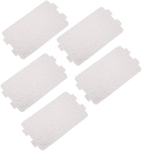 VIFERR Microwave Oven Mica Plate, 5Pcs Microwave Oven Repairing Part Mica Plates Sheets Replacement Repairing Accessory for Kitchen Microwave Oven