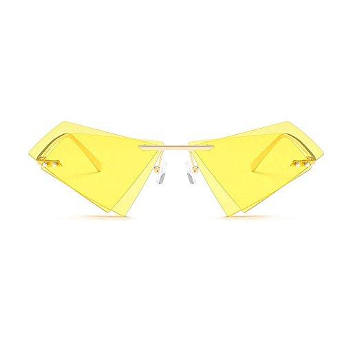 Soleil Yellow GAOLIXIA Femmes Sunglassesdouble Lentille Pare Et Triangle Marine Métal Cadre Hommes De Uv400 Protection Lunettes Soleil U4PUa