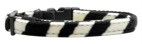 Mirage Pet Products Animal Print Nylon Collars, Small, Zebra