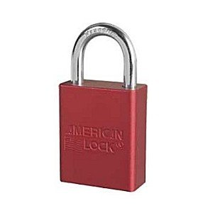 American Lock Red Padlock - Lockout Padlock, KA, Red, 1/4In Shackle Dia