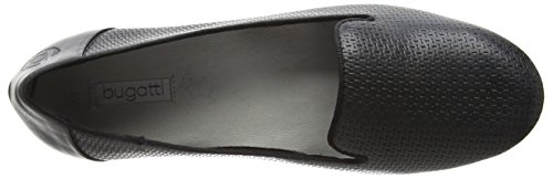 Bugatti Damen J48671 Geschlossene Ballerinas Schwarz (schwarz 100)