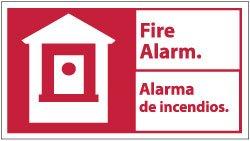 10 X 18 FIRE ALARM/ALARMA DE INCENDIOS: Industrial Warning ...
