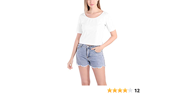 Pack de 2 Cuello en U Camisetas Mujer Verano Moda Sexy ...