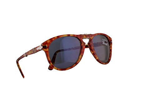 Persol 714 Folding Sunglasses Red Tortoise w/Light Blue Lens 52mm 106056 PO 0714 PO0714 ()