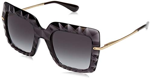 Dolce & Gabbana Women's Bold Square Sunglasses, Black/Grey, One Size (Dolce & Sunglasses Gabbana)