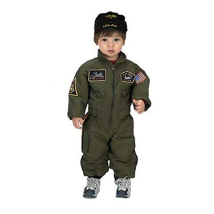Aeromax Jr. Fighter Pilot Suit with Embroidered Cap, Size 8/10.]()