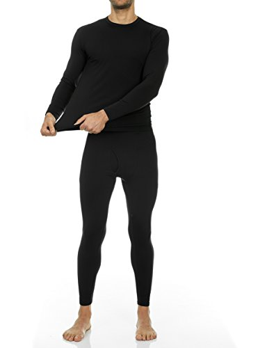 Thermajohn Men's Ultra Soft Thermal Underwear Long Johns Set with Fleece Lined 4