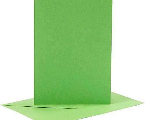 A6greeting de la Tarjeta Y el sobre 6pcs (220 g / M2) Verde ...