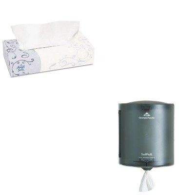 - KITGEP48580BXGEP58204 - Value Kit - Georgia-Pacific SofPull 58204 Translucent Smoke Regular Capacity Centerpull Paper Towel Dispenser (GEP58204) and Georgia Pacific Angel Soft ps Premium Facial Tissue (GEP48580BX)