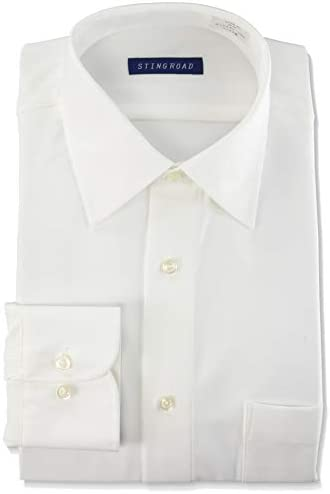 ワイシャツ 超形態安定 ノーアイロンシャツ 長袖白ワイシャツ レギュラーカラー ポリエステル100% ニットシャツ ストレッチ 冠婚葬祭 レギュラーフィット メンズ ST1000-AM-1