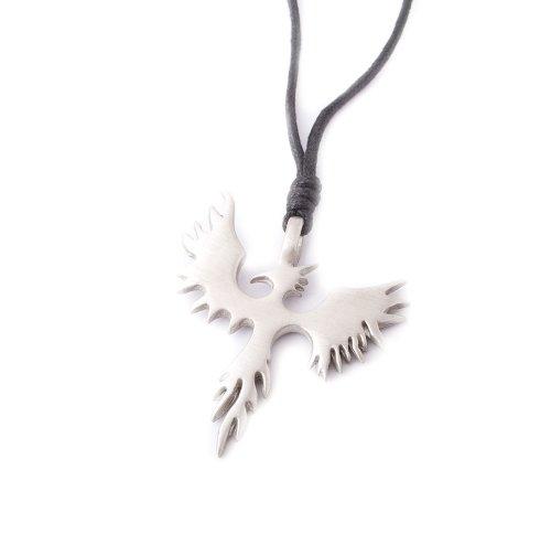 Pewter Bird Charm - Vietsbay Phoenix Bird Silver Pewter Charm Necklace Pendant Jewelry