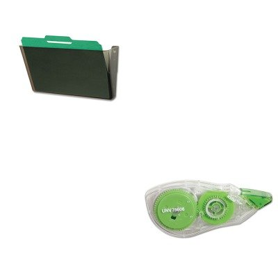 KITDEF73202UNV75606 - Value Kit - Deflect-o DocuPocket Stackable Wall Pocket (DEF73202) and Universal Correction Tape with Two-Way Dispenser (UNV75606) -