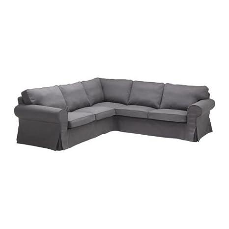 Amazon.com: IKEA EKTORP - Corner sofa 2+2 cover, Svanby grey ...