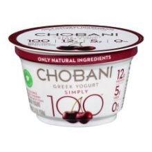 Price comparison product image Chobani Simply 100 Calorie Black Cherry Non Fat Greek Yogurt, 5.3 Ounce -- 12 per case.